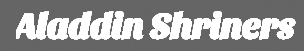 Aladdin Shriners Logo