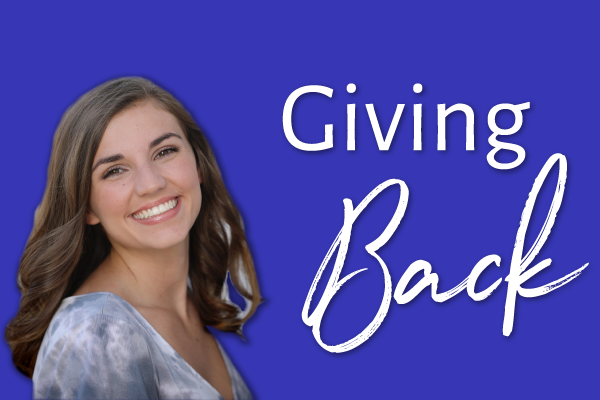 Kilee Brookbank gives back